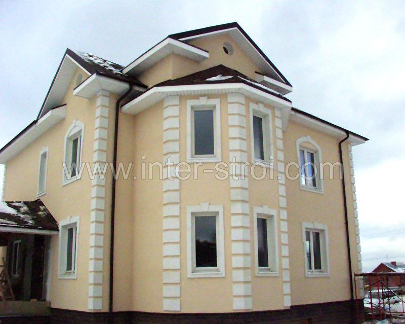 Отделка фасадов домов с фахверком